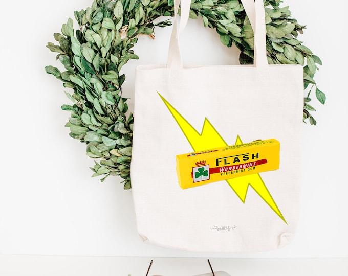 Tote Bag - Cotton ecru - Pop Art - Flash Bubble Gum