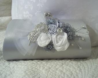 Wedding clutch - Silver Elegance