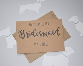 Will you be my bridesmaid, card for Bridesmaid, Bridesmaid gift, Wedding card, Wedding party card, Wedding party, Bridesmaid proposal