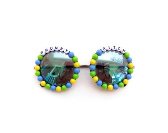 "Phish ""Phunky Bitch"" decorated sunglasses by Baba Cool 