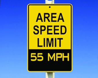 55 MPH Speed Limit Aluminum Sign