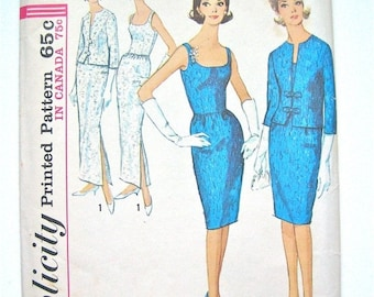 SALE 20% OFF Vintage 1960's Simplicity  5658 Wiggle Dress Pattern  Bust 34 inches