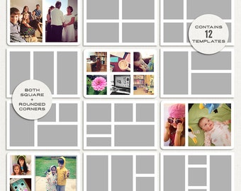 A Day in the Life : 4x6 Pocket Templates for Photos - Digital Scrapbooking Pack - Perfect for documenting life in any daily project!