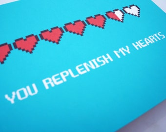 You Replenish My Hearts, Love Greeting Card : FREE SHIPPING
