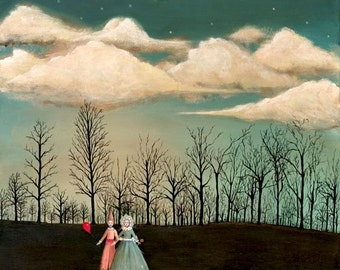 """Through the Trees - 11"""" x 14"""""""