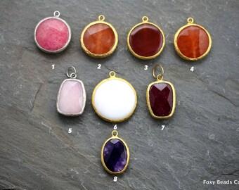 Jade Jewelry, Jade Necklace, Jade Jewelry Pendant, Gemstone Pendant, Faceted Gemstone, Gift for Her, Gemstone Jewelry, Mix Lot Jade Pendant