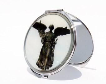 COMPACT MIRROR -  Custom- Makeup Mirror - Central Park Bethesda Fountain Compact Mirror - Bridesmaid Gifts