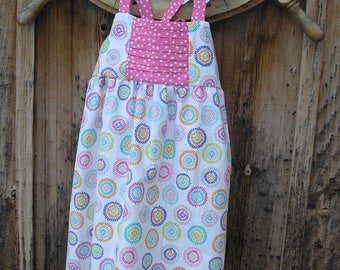 Sundress with Pinch Pleats and Flutter Sleeves