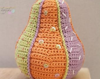 Pear Crochet Patchwork,Pear Amigurumi,Pear Pin Cushion, Pear Amigurumi Pattern, Pear Crochet Pattern, Pin Cushion, Fruit Pin Cushion