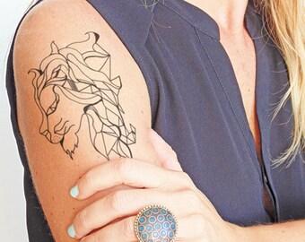Lion - Temporary tattoo