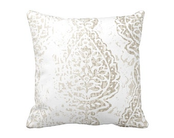 Damask Pillow Cover Decorative Pillow for Couch Taupe Throw Pillow Cover Brown Pillow Cover Taupe Cushion Taupe Pillow Cover Damask Pillows