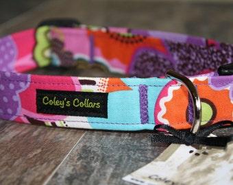 """Dog Collar, Dog Collars, Girl Dog Collar, Boy Dog Collar, Modern Dog Collar, Trendy Dog Collar, Floral Dog Collar,  """"The Mod Garden"""""""