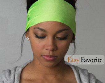 Best Running Headband ever - Wicking Headband - Non Slip Wide headband - Workout Headband - Fitness Headband - No headaches!  - MOJITO
