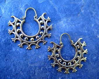 SALE!!! Heyoka Tribal Brass Earrings