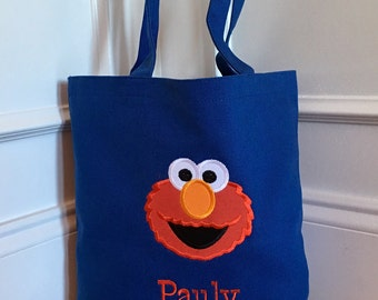 Personalized Elmo from Sesame Street Tote Bag - Different Color Options