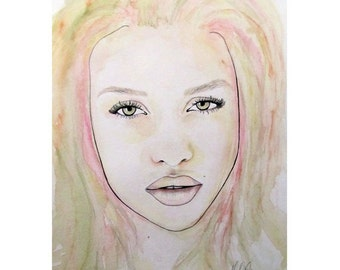 Of Colour And Beauty - Pink - ART PRINT - Right Piece - 8 x 10 - By Mixed Media Artist Malinda Prudhomme