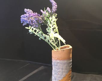 Southwest Bud Vase | Ceramic Desk Accent | Family Room, Bedroom, Bathroom Decor | Gift | Unique and One of a Kind Clay Vase