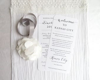 Double Sided Welcome Itinerary - Wedding Welcome Card- Double Sided Itinerary    Wedding Itinerary - Style IT20