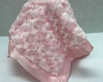 Lovie, Baby Girl Lovie, Pink Satin Lovie, Baby Girl Shower Gift, Personalized Lovie ,Shower Gift, Baby Security Blanket