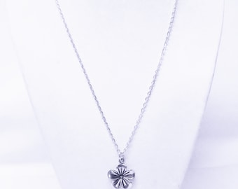 Silver Plated Tulip Flower Charm Necklace