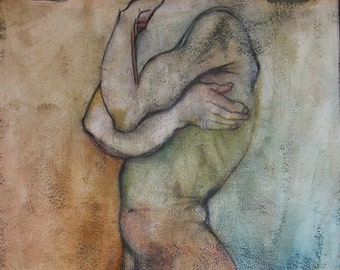Erotic Art Print, Homoerotic, Male Nude, Mature - The First of the Three Wise Men