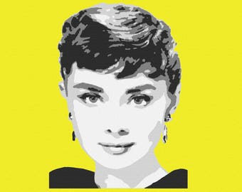 Embroidery Audrey Hepburn movie star