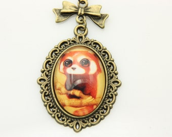 Red panda Necklace, 1825C