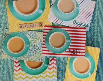 Say it With Coffee Notecards - Set of Six