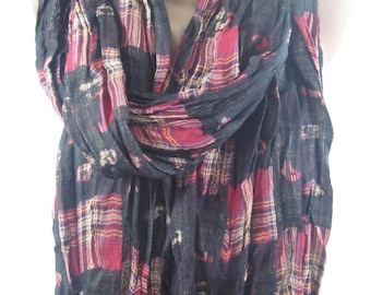 Mothers Day Gift For Her Plaid Scarf Flannel Scarf Tartan Scarf Men Scarf Fall Winter Scarf Mom Fashion Accessories  Scarf   For Him