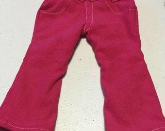 Doll Jeans18 inch doll jeans fit american girl doll jeans pink corduroy doll jeans designer look doll jeans