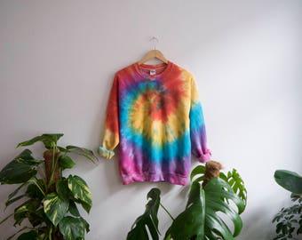 Summer Tie-Dye Sweatshirt, tumblr, grunge, festival, hippie, indie, summer