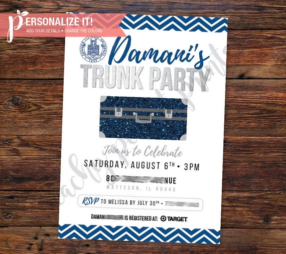 Trunk Party Invitation Going Away College High School