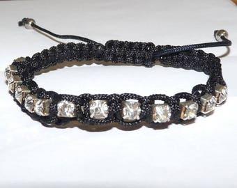 Black with dice rhinestone friendship bracelet Friendship Bracelet