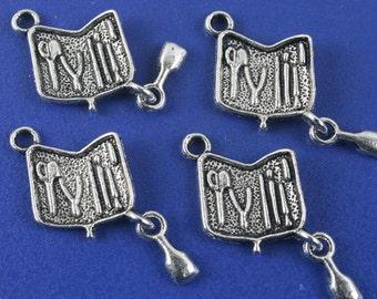30pcs antiqued silver toolkit design pendant charm G1156