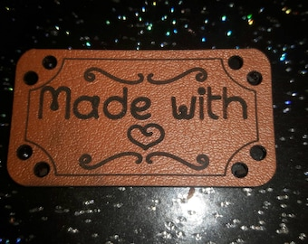 Pu leather sewing label