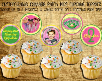 Cabbage Patch Kids Cupcake Toppers / Cabbage Patch Dolls Birthday / Cabbage Patch Dolls Cupcake Toppers / Cabbage Patch Kids Birthday