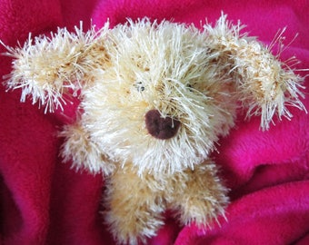 Crochet Toys, Dog, Monkey, Knitted Toys, Fluffy, Sweet Animals, Gift for Kids, Yellow, Hand Knitted, Embroidered, Gold