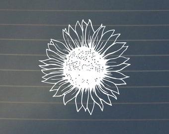 DECAL | Sunflower Decal, Sunflower, Laptop Stickers, Laptop Decals, Car Decals, Decals, Nature Decals, Flower Stickers, Sunflower Gifts