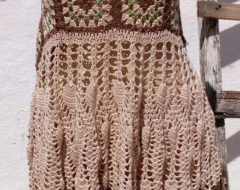 Crochet dress bohemian handmade festival