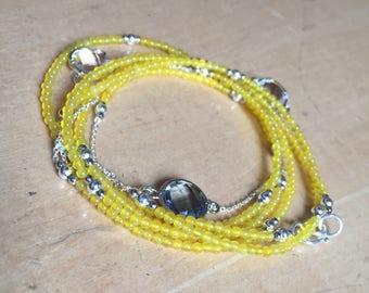Necklace/Bracelet Jade Yellow