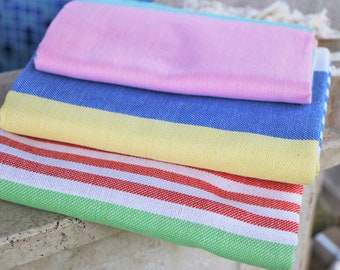 SET OF 3 Bamboo Peshtemal Towel Bathroom Towels Turkish Peshtemal Bamboo  Towel