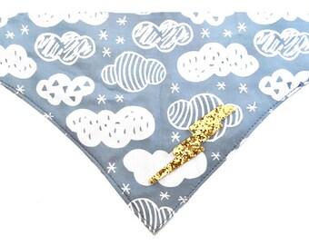 Clouds & Lightening Bolt Bandana