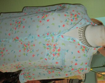 The Most ADORABLY Flirty and ULTRA Feminine Butterfly Print Top