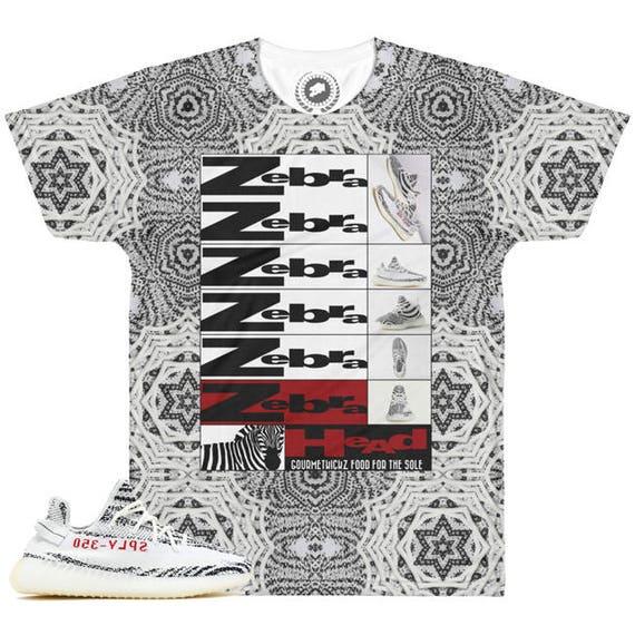 7292d627625e57 ... Yeezy Boost 350 v2 Zebra Sneaker Match T-Shirt by Chef V3  Baws ...