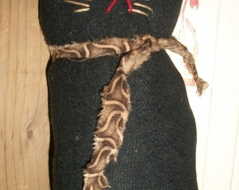 Primitive Sock Cat BrownTie