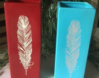 Ceramic Feather Vase