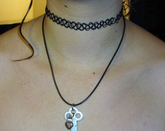 Antique Key Necklace (Key to My Heart) One of a Kind