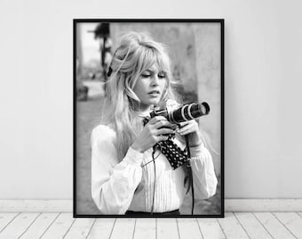 Brigitte Bardot Print • Fashion Print Bardot Poster Fashion Wall Art Fashion Photography Prints Photo Black and White Bridget  french poster