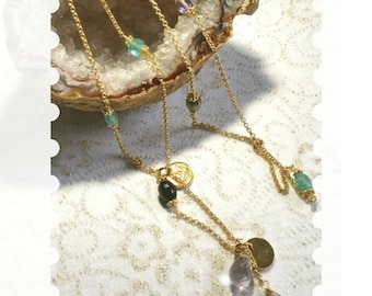 "Tie very fine ""Hope and Peace"" necklace in Vermeil"