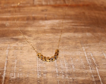 Gold Nugget Necklace | Gold Necklace, Dainty Gold Necklace, Gold Beaded Necklace, Minimalist Necklace